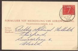 Verhuiskaart 1964 Geuzendam Nr 27 - Postal Stationery