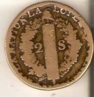 MONEDA DE FRANCIA DE 2 SOLS DEL AÑO 1792 (BRONCE) - 1789 – 1795 Monedas Constitucionales