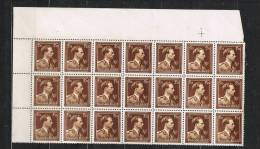 (z 164)  Belgique  ---  COB N° 695 En Bloc De 21   **/MNH - 1936-1957 Offener Kragen