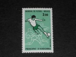 ANDORRE FRANCAIS ANDORRA YT 350 ** - SPORT FOOTBALL COUPE MONDE MEXIQUE - - Andorre Français