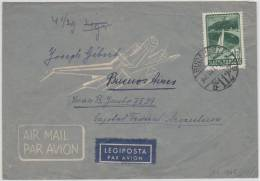 16891 BUDAPEST 948 OKT 1 Airmail Cover To Argentina - Single Franking 3 Forint