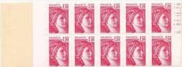 France N°1974** C4a Conf.8 Gomme Mate SABINE DE GANDON - Carnets