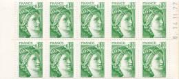 France N°1970** C1a  Gomme Mate SABINE DE GANDON - Carnets