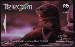 Telecom New-Zealand. WWF  ( New-Zealand Fur Seal) - Nouvelle-Zélande