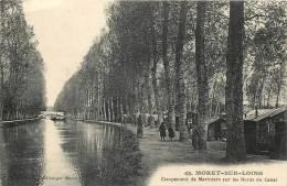 77 MORET SUR LOING CAMPEMENT DE MARINIERS SUR LES BORDS DU CANAL - Moret Sur Loing