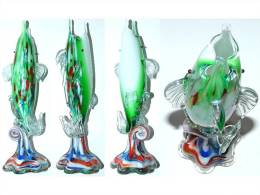 SUPERBE VASE VERRE MURANO SULFURE PRESSE PAPIER SOLIFLORE - Glass & Crystal