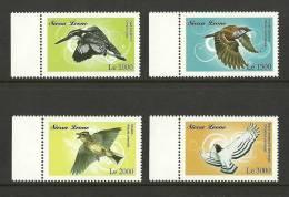 sie0918co Sierra Leone 2009 Birds 4v Kingfisher