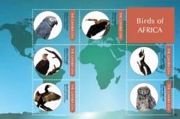 gam1139sh Gambia 2011 Birds of Africa s/s Parrot Darter Crane Eagle Penguin Cormorant Owl