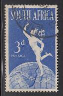 South Africa Used Scott #111a SG #130b 3p Mercury And Globe English Inscription Variety: Lake On East Africa - Oblitérés