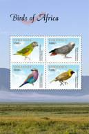 tan1117sh Tanzania 2011 Birds of Africa s/s Parrot