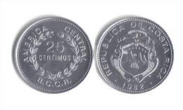 Costa Rica 25 Centimos 1982 Unzirkuliert/UNC - Costa Rica