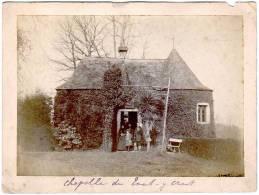 Photo Sur Carton, Personnes Devant Chapelle De Tout-y-Croit - Luoghi