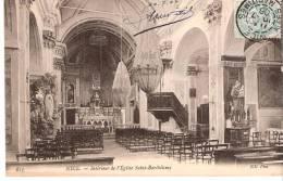 Nice (Alpes Maritimes)-1906- Intérieur De L´Eglise Saint-Barthélemy-Statue De Saint Antoine De Padoue - Monumenten, Gebouwen
