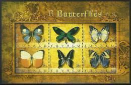 tuv0913sh Tuvalu 2009 Butterflies s/s