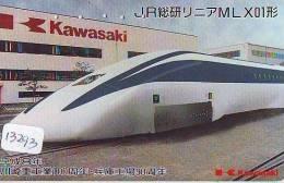 Télécarte Japon *  TRAIN *  (13.293) Railway Japan Phonecard * ZUG Telefonkarte * TREIN * DAMPF * KAWASAKI - Eisenbahnen