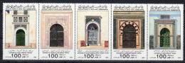 1985,  Portes De Mosquées - Tenant, Y&T  No. 1593 - 1597, Neuf **, Lot 35091 - Libia