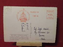Paris Le Pallais De Chaillot  Le 01.08.1958 - Cartes Postal - - EMA (Printer Machine)