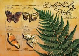 sgb1117sh Bequia St. Vincent 2011 Butterflies s/s