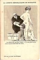 POLITIQUE-EMILE COMBES-LESSIVE REPUBLICAINE DE MARIANNE-CARICATURE -Franc-maçonnerie -séparation églises-état-masonic - - Sátiras