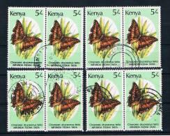 Kenia 1988 Schmetterlinge Mi.Nr. 426 8 Mal Gestempelt - Kenia (1963-...)