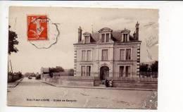 """1913 - Poste Ferroviaire / Cachet Convoyeur Ligne """" Bourges à Etampes """" Sur Semeuse / Verso Sully Sur Loire Ecole ... - Poste Ferroviaire"""