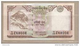 Nepal - Banconota Non Circolata Da 10 Rupie P-61a - 2008 - Nepal