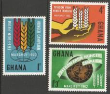 Ghana. 1963 Freedom From Hunger. MH Complete Set - Ghana (1957-...)