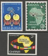 Ghana. 1961 Africa Freedom Day. MH Complete Set - Ghana (1957-...)