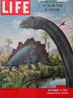 Magazine LIFE - SEPTEMBER 21 , 1953 - INTERNATIONAL EDITION -  Publicité RENAULT Frégate, BILLANCOURT       (3010) - Nouvelles/ Affaires Courantes