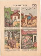 """Imagerie Moderne/Louis Bellenand & Fils/fontenay Aux Roses/devinettes/ """" Chameaux""""/Dentol/1936   JE65 - Non Classés"""