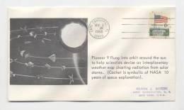 USA - Lancement Du Satellite PIONEER 9 - Oblitération CAP CANAVERAL  - 8 Novembre 1968 - FDC & Commémoratifs