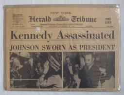 New York Herald Tribune - November 23, 1963 - Kennedy Assassinated - Reprint [#A0390] - News/ Current Affairs
