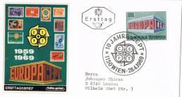 0683. Carta WIEN (Austria) 1969. 10 Jahre CEPT. Europa - 1961-70 Briefe U. Dokumente