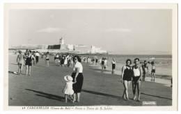 PORTUGAL - CARCAVELOS Costa Do Sol - Praia E Torre De S. Julião (Col. Passaporte, Nº 14) Carte Postale - Lisboa