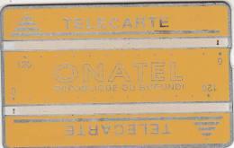 BURUNDI - Onatel Logo, Yellow 240 Units, CN : 001B, Tirage 14000, Used - Burundi