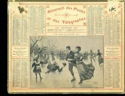 Calendrier 1905, Sur La Glace, Patineurs - Calendarios