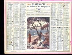 Calendrier 1933, Saint Raphael, L'île D'or, Signé Beuzon. - Calendars