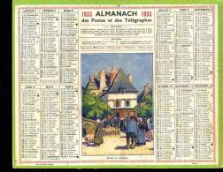 Calendrier 1935, Marché En Bretagne. - Calendars
