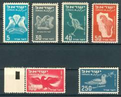 Israel - 1950, Michel/Philex No. : 33-38, - MNH - No Tab - - Nuevos (sin Tab)