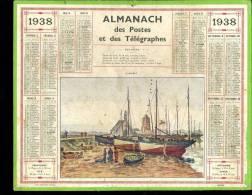 Calendrier 1938, Camaret, Finistère. - Big : 1921-40