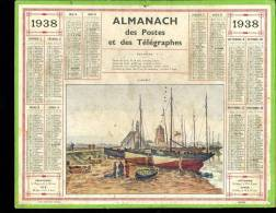 Calendrier 1938, Camaret, Finistère. - Calendriers