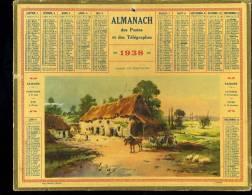 Calendrier 1938, Ferme En Bretagne. - Calendriers