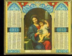 Calendrier 1941, La Vierge à La Grappe - Calendriers