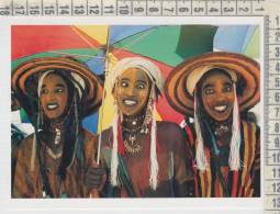 Africa Niger Nigeria Winners Of A Wodaabe Charm Dance   Angela Fisher And Carol Beckwith  Trucco  Tatuaggi Costumi - Niger