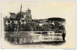 77-Montigny-sur-Loing-- Le Barrage- Pionnière Dos 1900- THIBAULT 171  (personnage) - Non Classés