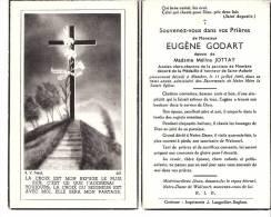 Membre-sur-Semois-1945-  Faire-part De Décès De Mr Eugène Godart -Ancien Clerc-chantre De La Paroisse (vue Recto-verso) - Décès