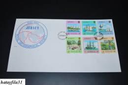 """Jersey  1980   Mi  228 - 233   /  Zweijahres Expedition Um Erde  """" Operation Drake """"  ( 64 ) - Jersey"""