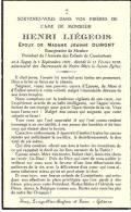 Membre-sur-Semois-(Vresse)-1938--Faire-part De Décès De Mr Henri Liégeois-Bourgmestre De Membre - Décès