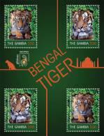 gam1102sh Gambia 2011 Bengal Tiger s/s INDPEX
