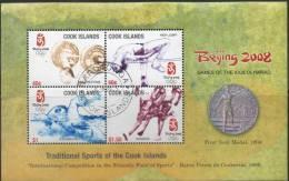 Cook Island, Jaar 2008, Blok Sport, Gestempeld, Zie Scan - Cook